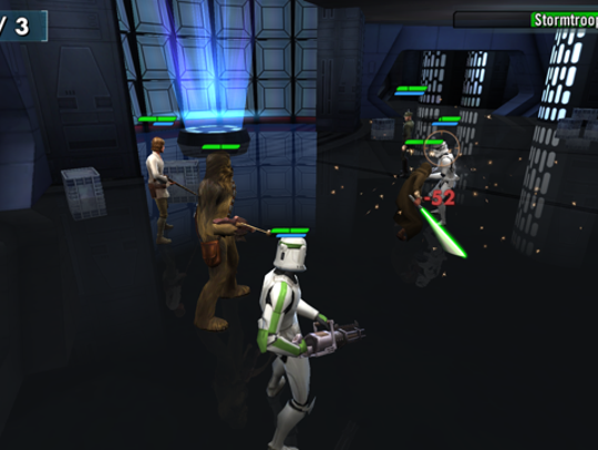 "A scene from ""Star Wars Galaxy of Heroes"""