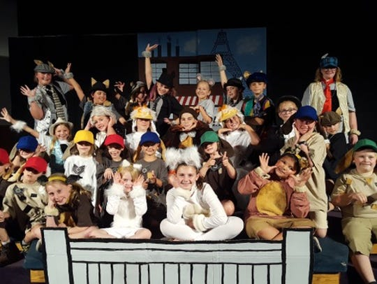 Children in grades one through five performed in a