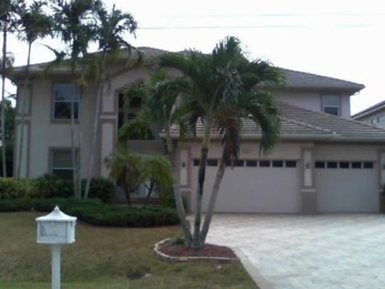 This home at  2418 SE 28th St., Cape Coral, recently