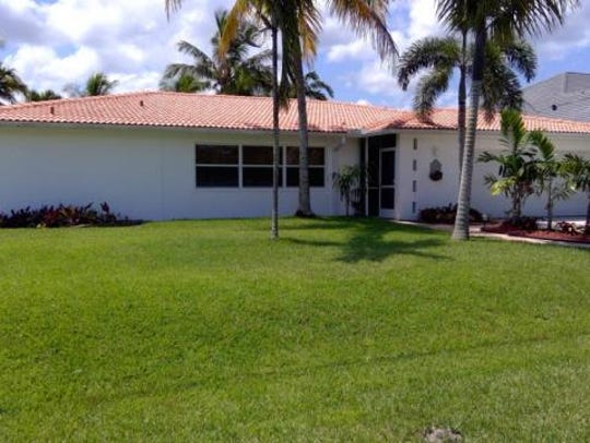 THis home at  2510 SE 28th St., Cape Coral, recently