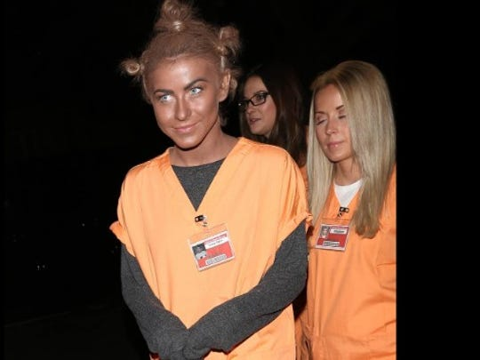 """Rule 1: No blackface. Actress and dancer Julianne Hough learned this rule the hard way when she dressed as """"Orange is the New Black"""" character """"Crazy Eyes"""" for Halloween in 2013. """"It certainly was never my intention to be disrespectful or demeaning to anyone in any way. I realize my costume hurt and offended people and I truly apologize,"""" Hough said via Twitter."""