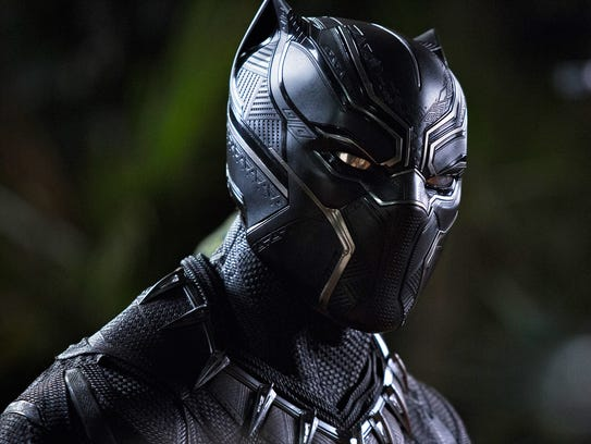 A Marvel masked man, the Black Panther (Chadwick Boseman).
