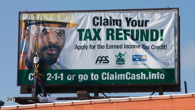 Billboards around the country encourage lower-income workers to file federal tax returns to claim the Earned Income Tax Credit.