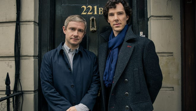 Martin Freeman, left, and Benedict Cumberbatch, right, both took home Emmys for their roles in 'Sherlock.'