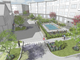 A rendering of proposed apartment buildings at the