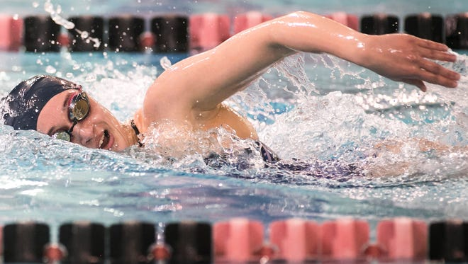 West York's Meghan French, seen here in a file photo, won a silver medal in the PIAA Class 2-A 500 freestyle on Thursday night.
