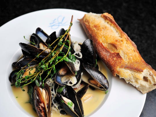 Moules frites is a bistro mainstay; Le Sel's version