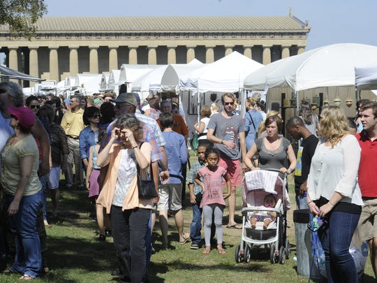 The fall Tennessee Craft Fair is always a popular outing for all ages.
