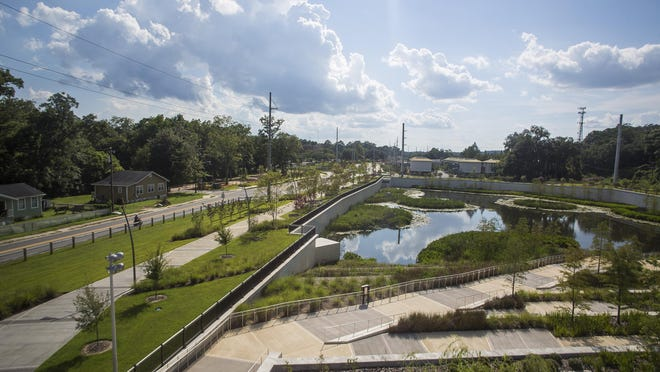 Overlooking the Anita Favors Thompson Plaza, FAMU Way is seeing a change in landscape with continued development.