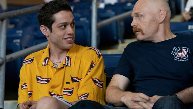 "Pete Davidson and Canton's Bill Burr in ""The King of Staten Island,"" directed by Judd Apatow."