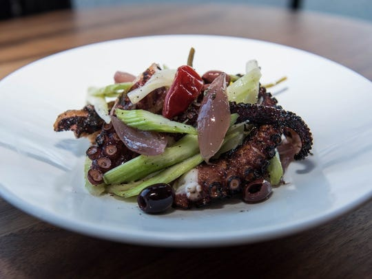 Grilled octopus and celery salad at Sophia in Englewood
