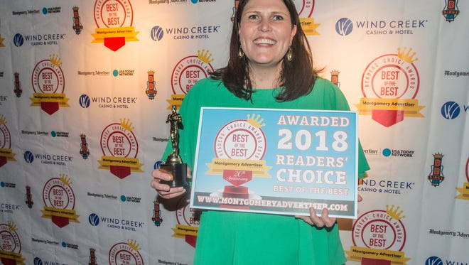Leslie Zeanah was honored as Best Real Estate Agent in the Montgomery Advertiser's 2018 Reader's Choice Best of the Best Awards on Thursday, July 26, 2018, at B.B. King's Blues Club in Wind Creek Montgomery.