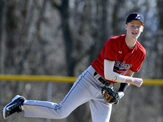 Lebanon's Logan Blouch returns as one of the Cedars' three senior captains and the team's starting second baseman.
