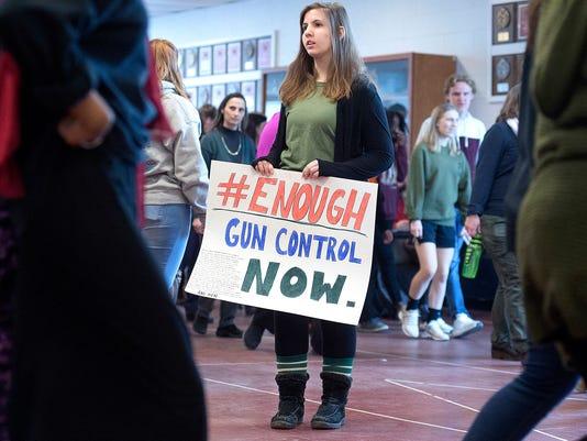 AP STUDENT WALKOUTS GUN VIOLENCE MAINE A USA ME