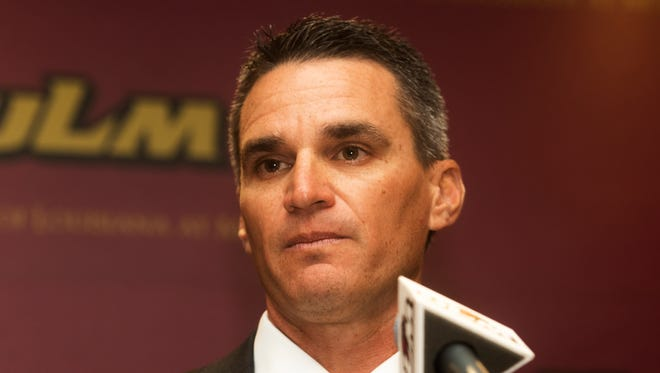 Michael Federico introduced himself as the new ULM baseball coach during a press conference last week.