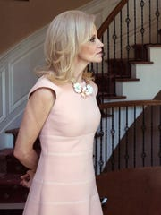 Kellyanne Conway talks March 12, 2017, at her home