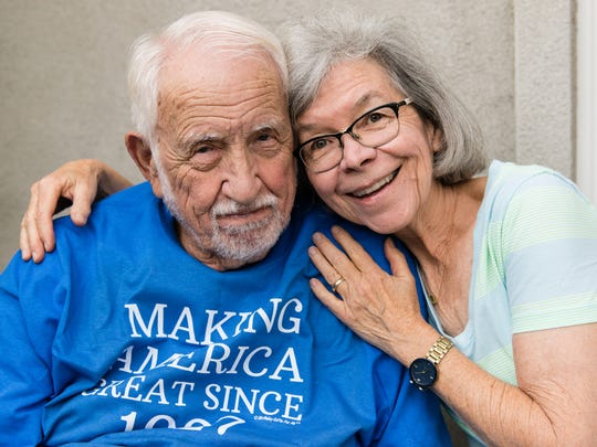Rich Morrison, 90, and his wife, Carolyn Langenkamp,