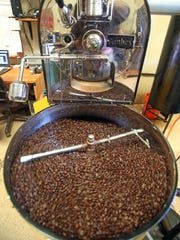 Roasted coffee beans at Double Barrel Roasters in Yonkers.