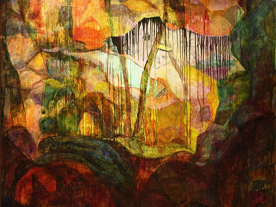 """""""Magic Yellow Carpet Ride,"""" a painting by Phil O'Malley."""