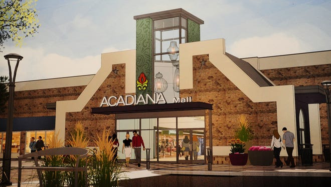 This February 2013 rendering shows plans for changes to the exterior of Acadiana Mall.