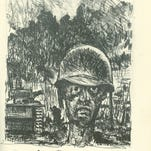 El Paso artist Tom Lea created this drawing during the Battle of Peleliu in 1944.