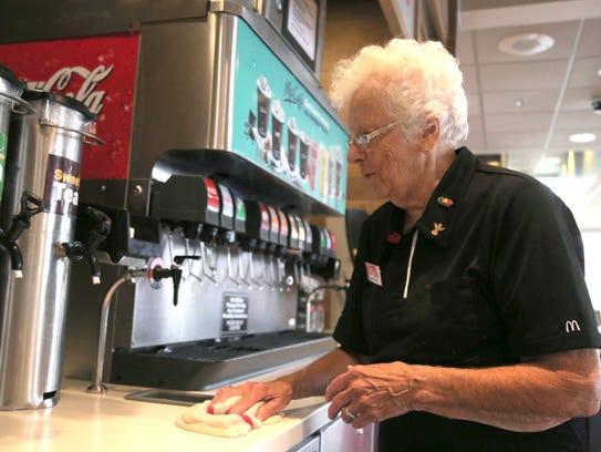Caroline Thompson works part time at the McDonalds