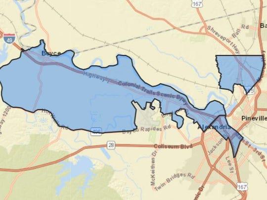 Opportunity Zones in Rapides Parish.