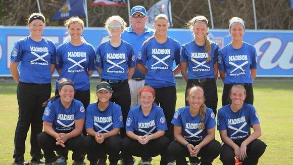 The Madison 16U softball team.