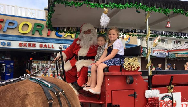 For Randy Davis, aka Santa, the Boardwalk rides that he offers is all about kids.