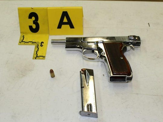 This handgun was allegedly used in Wednesday's robbery