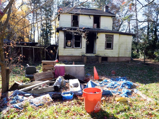 A late-night fire Friday gutted this home on West Sherman Avenue in Vineland.