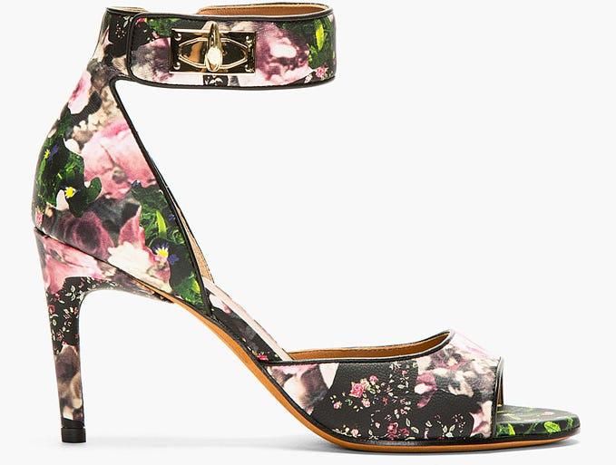 "Givenchy ""Sharklock"" heels, $940, www.ssense.com."