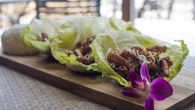 chicken lettuce wraps at Fulin's Asian Cuisine