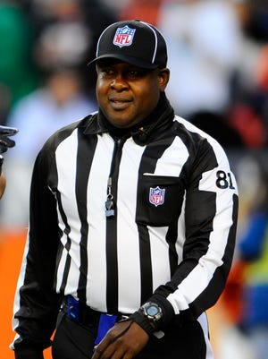 NFL suspended umpire Roy Ellison one game without pay for making a 'profane and derogatory' statement toward Redskins tackle Trent Williams.