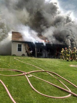 No one was injured in a house fire ruled a total loss after a candle started a fire on Sunday, April 16, 2017.