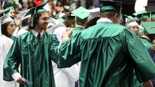 Graduates participate in the Hillwood High School graduation ceremony held Thursday May 12, 2016 at Lipscomb's Allen Arena.