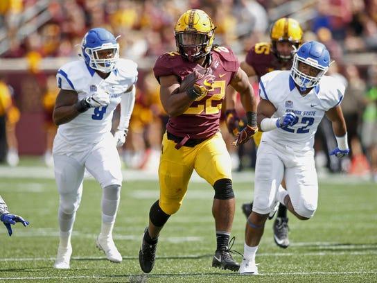 Minnesota running back Kobe McCrary rushes 50-yards