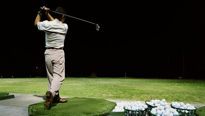 The only way to get better at golf is with practice.
