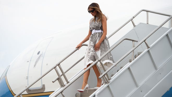 """The York Times reported Tuesday that while returning from Europe last week, first lady Melania Trump reportedly watched CNN, to the ire of her husband, who calls the network """"fake news."""""""