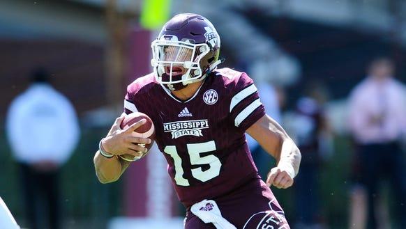 Mississippi State quarterback Dak Prescott received