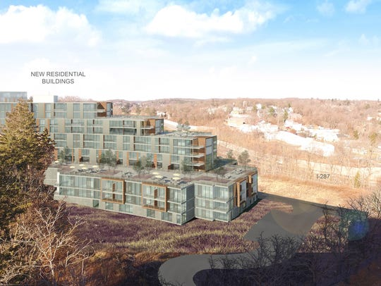 Rendering of proposed housing development on former