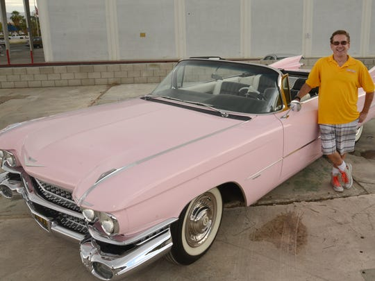 Keith McCormick with the 1959 Pink Cadillac that will be auctioned Nov. 20-22 with many other classic vehicles.