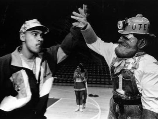 Paydirt Pete and Eddie Rivera in 1992.
