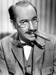 "Groucho Marx's forays into radio included hosting ""Blue"