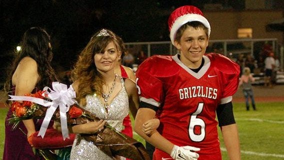 Tyrrell Barela and Cheyanne Apaodaca were crowned the 2015 Carrizozo Homecoming queen and king Sept. 25.