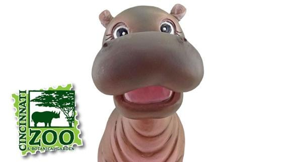 The Cincinnati Reds and the Cincinnati Zoo and Botanical Garden teamed up for a Fiona the Hippo bobblehead