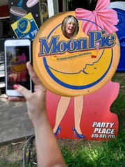 Jack Clary has her photo made at the 24th Annual  RCÑMoonPie Festival Saturday June 16, 2018, in Bell Buckle, Tenn.