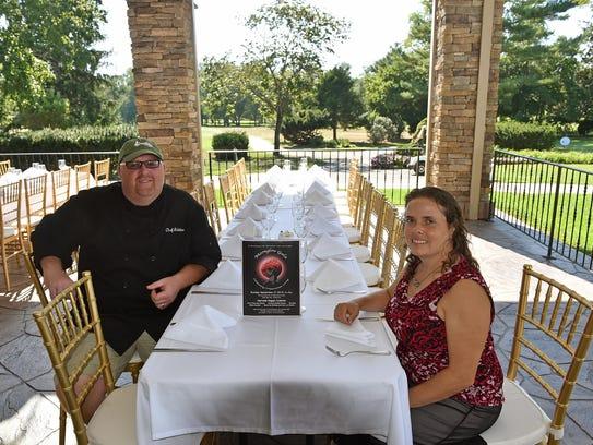 Greenview Inn Executive Chef Rob Buono and Anne Dinshah