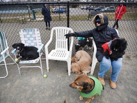 Teaneck resident Janet Abbott calls her dog Gypsy,