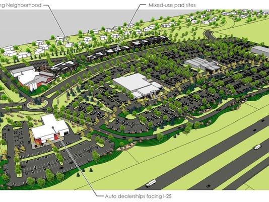 Westgate auto complex bird's eye view